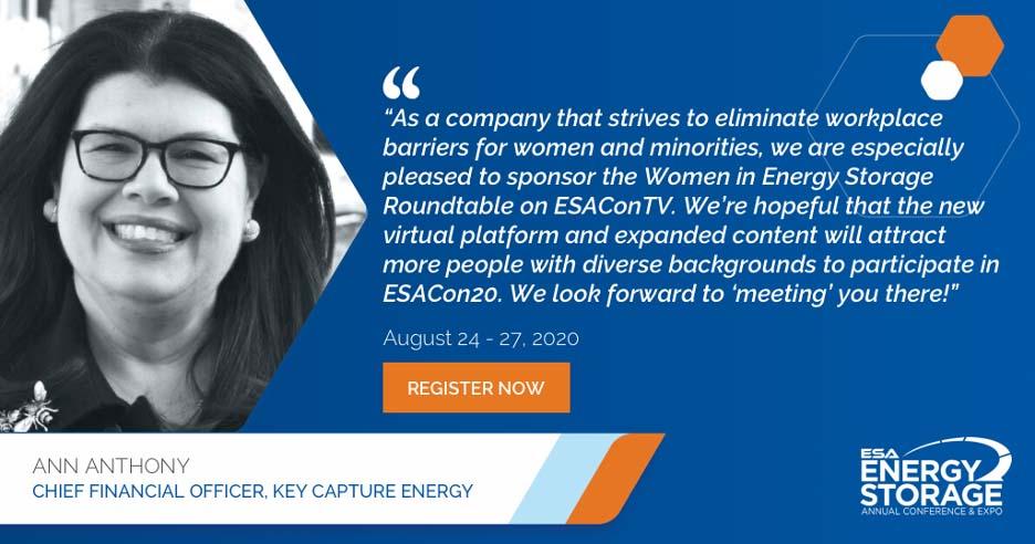 KCE ESA 2020 Women in Energy storage